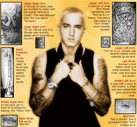 eminem proof tattoo how many tattoos does eminem quora
