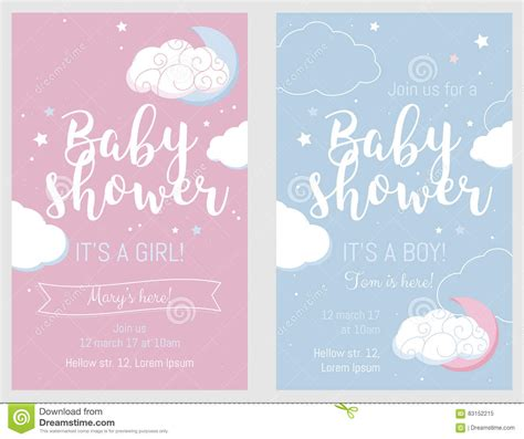 baby sts for card baby shower set vector invitation cards vector