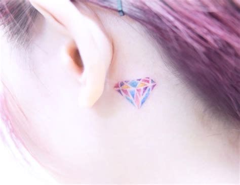 pinks tattoo behind her ear 40 amazing behind the ear tattoos for women tattooblend