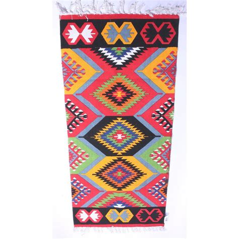 Aztec Runner Rug with Multicoloured Aztec Runner Rug By I Retro Notonthehighstreet