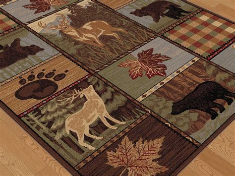 nature area rugs tayse rugs nature colorblock wildlife rectangular brown area rug ta6568rec
