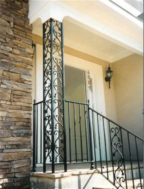 Decorative Metal Porch Posts by Ornamental Iron Columns From Watson Steel And Iron
