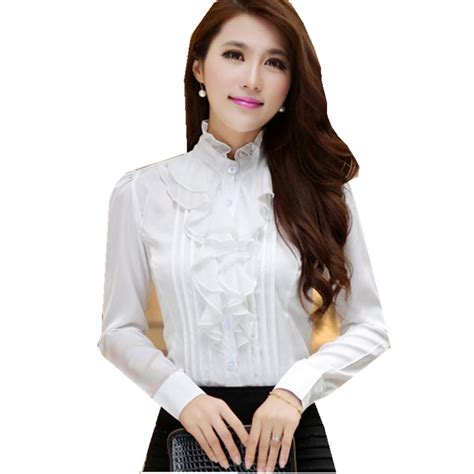 Dressy White Blouses With Ruffles by Womens Dressy Blouse Lace Henley Blouse
