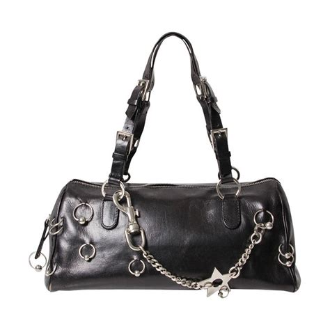 Gaucho Boston Bag by Christian Pierced Boston Bag At 1stdibs