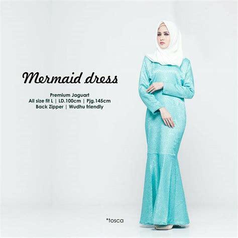 Gamis Pesta Duyung gamis duyung terbaru mermaid toska baju gamis terbaru