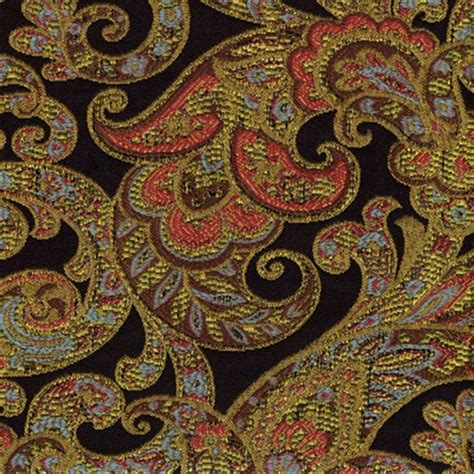 paisley fabric for curtains grand paisley onyx jacquard paisley upholstery fabric