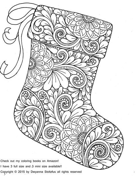 christmas zentangle coloring page christmas stocking coloring page coloring pages
