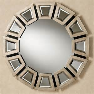 A Touch Of Class Home Decor Abstract Twilight Round Wall Mirror