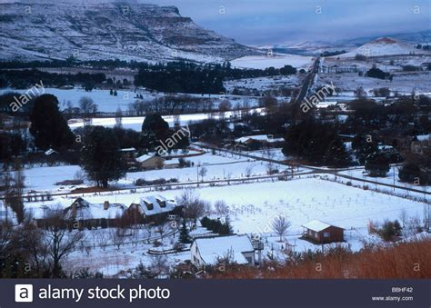 snow in south the town of clarens in the snow clarens freestate south