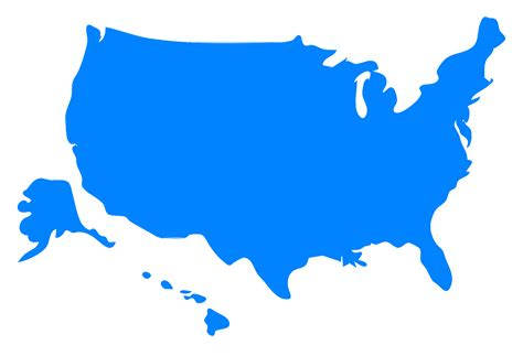 free us map outline vector clipart usa map silhouette