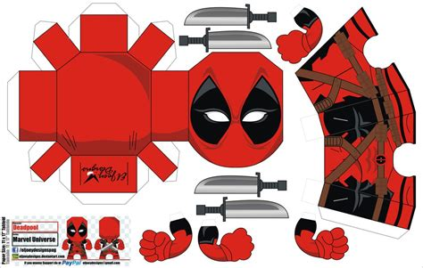 Minecraft Papercraft Deadpool - deadpool papercraft by eljoeydesigns on deviantart