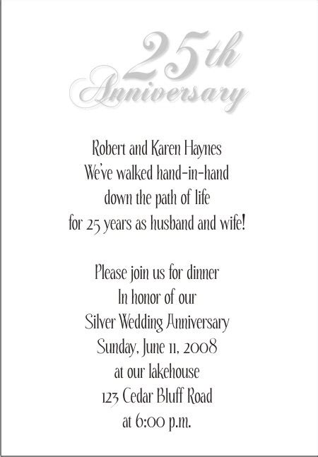 25th Wedding Anniversary Reception Ideas by 25th Wedding Anniversary Invitations