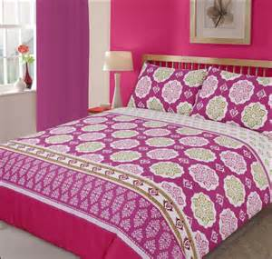 pink colour bedding reversible duvet cover stylish