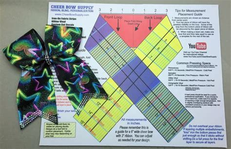 bow maker template diy cheer bow maker s mat this folding template shows
