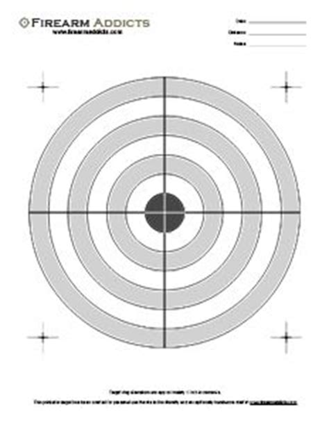 printable targets for handguns free printable shooting targets firearm addicts forum