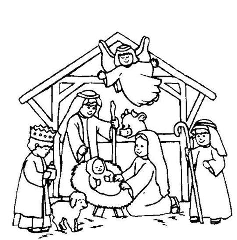christmas coloring pages of nativity scene nativity scene coloring page sunday school craft and