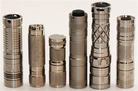 who makes single cr123 titanium flashlights