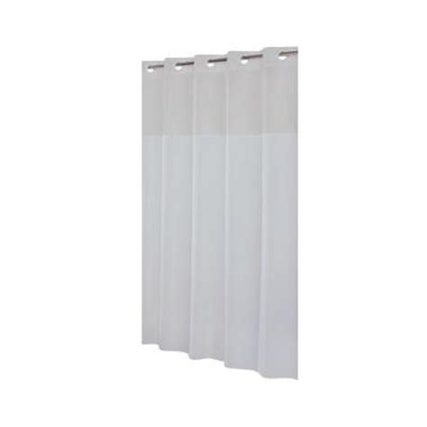 Shower Liner Home Depot by Hookless Shower Curtain In Mystery White With Snap Liner