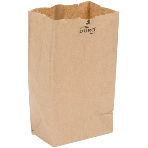 Paper Bag duro 3 lb brown paper bag 500 bundle