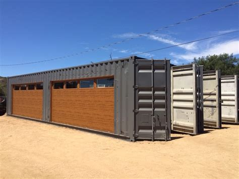 Garage Plans With Workshop by Shipping Container Garage Door