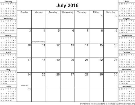 july 2016 printable calendar with holidays calendar july 2016 printable calendar printable blank calendar org