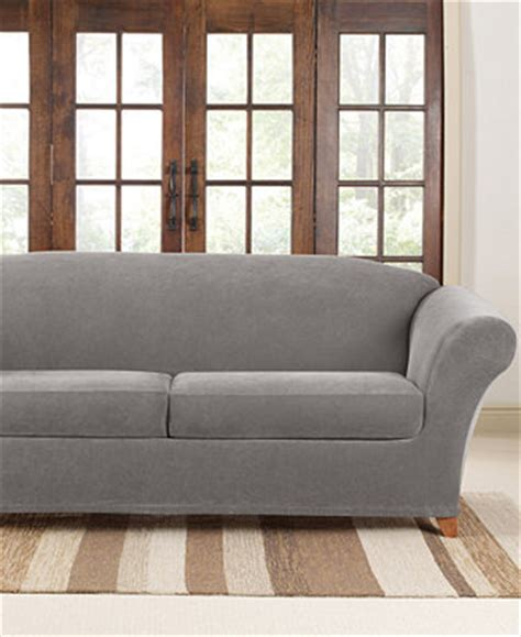 sure fit stretch pique 2 cushion sofa slipcover