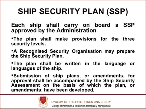 ship security plan isps revive