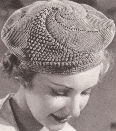 pattern for vintage hats vintage crochet pattern to make popcorn beret pancake hat