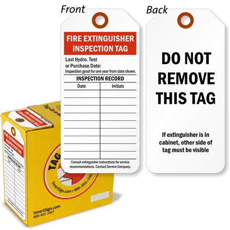 extinguisher inspection tag template hydrant cabinet checklist cabinets matttroy