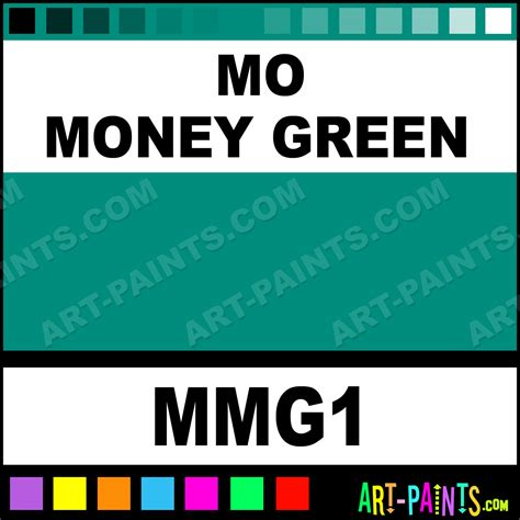 money green color mo money green colorworks ink paints mmg1 mo