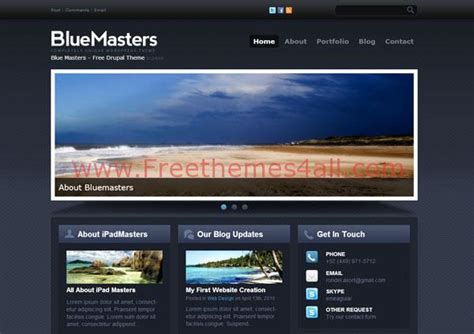 drupal themes with slider free download abstract responsive blue drupal theme free download