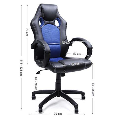 roulettes pour fauteuil de bureau songmics fauteuil de bureau chaise pour ordinateur pu
