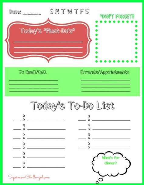 daily work to do list template 4 best images of printable daily to do list template