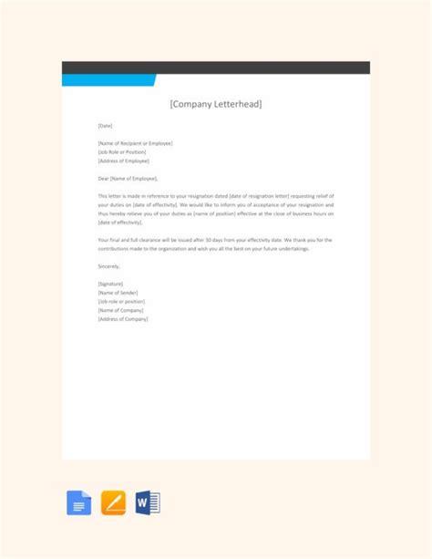 job relieving letter templates premium