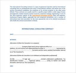 consulting contracts templates sle consulting contract template 9 free documents in