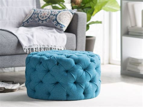 blue tufted ottoman coffee table ottoman blue coffee table