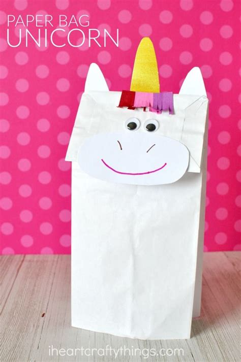 Crafts With Paper Bags - how to make a paper bag unicorn craft unicorn crafts