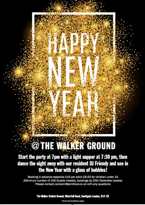 new year year of the poster information the walker ground new years event