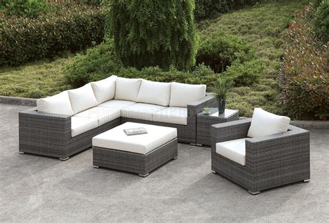 patio l somani cm os2128 10 outdoor patio l shaped sectional sofa set