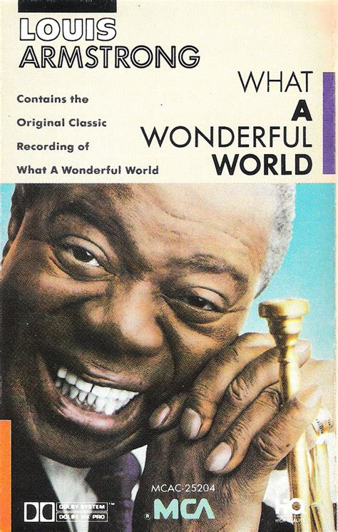 louis armstrong what a wonderful louis armstrong what a wonderful world cassette album