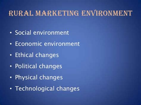 Rural Marketing Notes For Mba by Rural Marketing Invornment