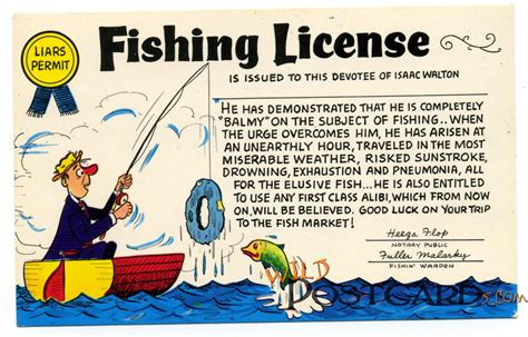 pa fish and boat collectors permit fishing license wild postcards