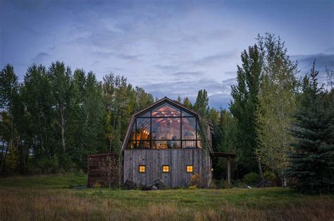 Mediterranean House Plans With Photos Rustic Meets Modern In Stunning Barn Guest House In Wyoming