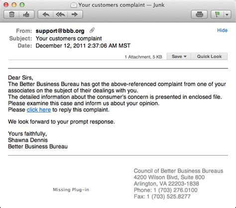 Complaint Letter Subject Line Is The Bbb Customer Complaint Email Legit Ask Dave