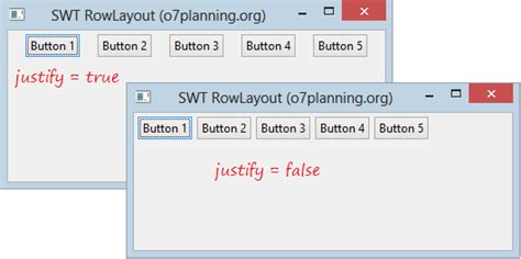 swt layout manager tutorial java swt rowlayout tutorial