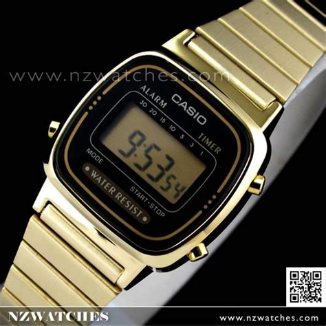 buy casio retro gold tone digital watches la670wga