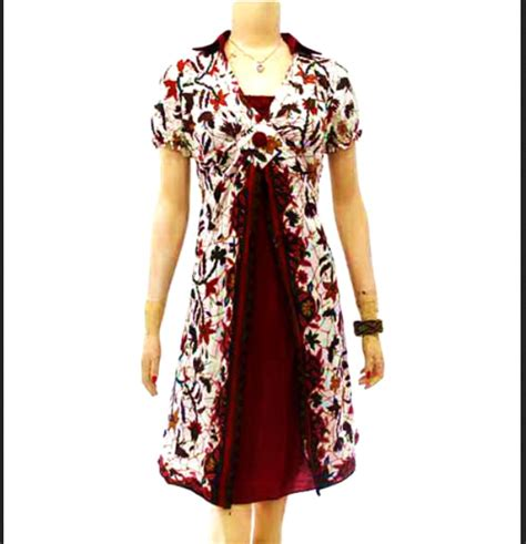 Baju Pesta Modern Untuk Wanita model baju batik wanita modern yang keren