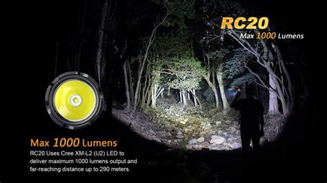 fenix lade fenix rc20 led taschenle mit 1000 lumen inkl