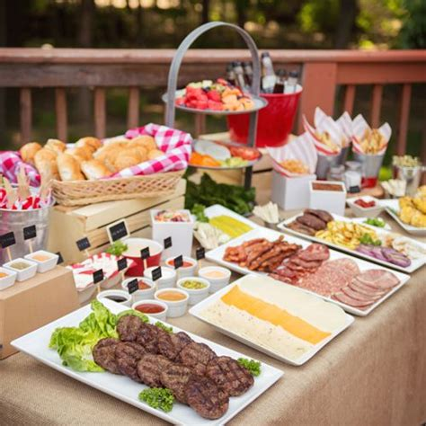 Backyard Bbq Menu Ideas Ideas To Spice Up Your Summer Bbq Featuring A Gourmet Burger Bar Burgers Summer And Burger Bar