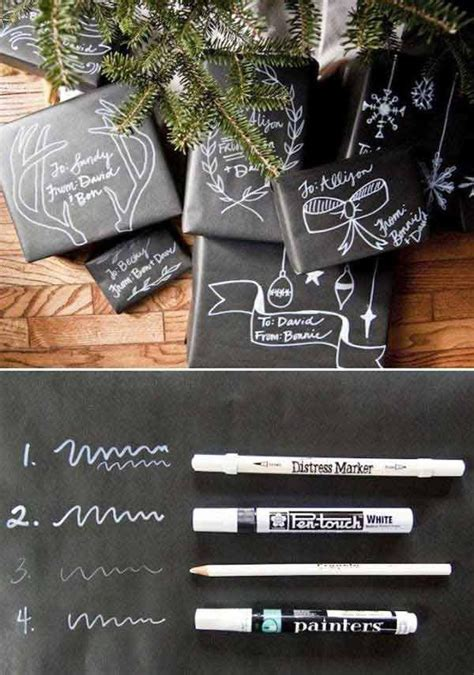 diy chalkboard gift wrap gift wrapping ideas printable gift tags the idea room